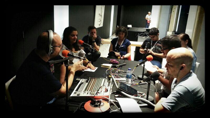 Grabando el Podcast en el Festival de Sitges